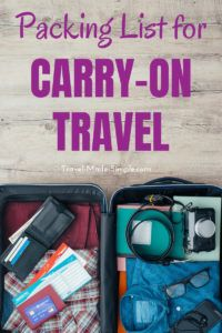 Are you wondering what to pack for a trip? My travel packing checklist for carry-on only will help you take what you need and leave behind what you don't. Get the carry-on only packing list here! #packinglist #packingchecklist #traveltips #travelhacks #printables