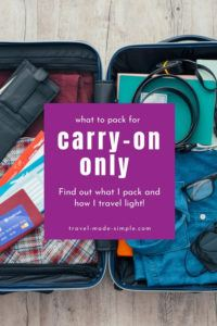 Learn to pack less and travel lighter with my tips for carry on travel. See what to pack for a trip, what luggage I've tried and love, and get my free printable packing checklist.