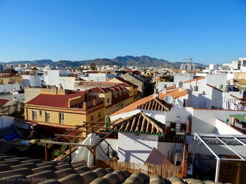 view from apartment in Malaga Spain
