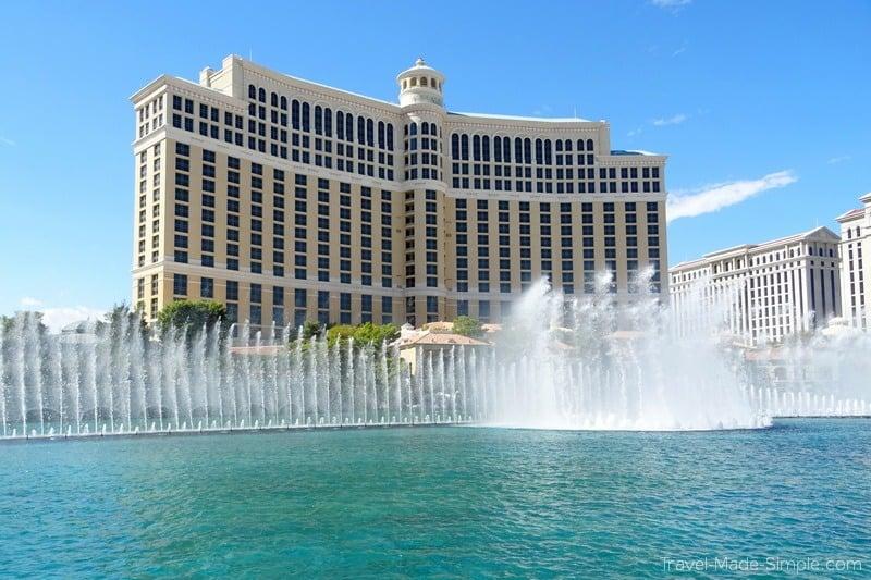USA road trip itineraries - Vegas Bellagio fountains