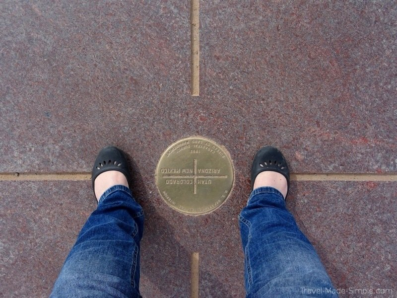 USA road trip stops - 4 corners monument
