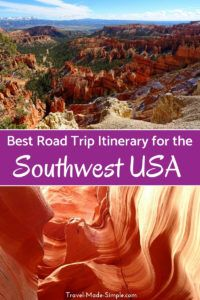The possibilities are limitless, but here's our 3 week road trip itinerary for the American southwest plus alternatives for shorter trips in the western US. #usa #ca #ut #az #roadtrip #travelplanning #traveltips