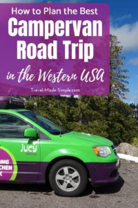 Planning a road trip with an RV or campervan is more complex than a trip with a normal car. Here's what you need to know for planning a campervan road trip in the western USA with advice from our own trip. #usa #ca #ut #az #roadtrip #nationalparks #camping #rv #campervan #traveltips #travelplanning