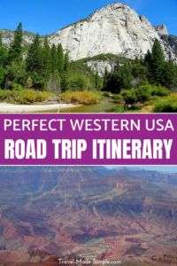 Check out the best 3 week road trip itinerary for the western US plus alternatives for shorter trips in the American southwest. #usa #ca #ut #az #roadtrip #travelplanning #traveltips