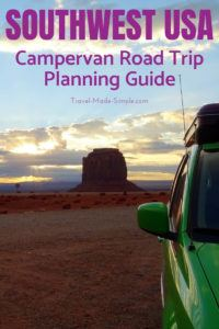 Planning a road trip with an RV or campervan? First learn what you need to know for planning a campervan road trip in the western USA with our helpful guide. #usa #ca #ut #az #roadtrip #nationalparks #camping #rv #campervan #traveltips #travelplanning