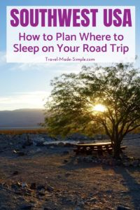 Planning where to sleep is an an important part of your road trip. Here's what you need to think about when choosing campgrounds and hotels for a southwest USA road trip plus recommendations from first hand experience.