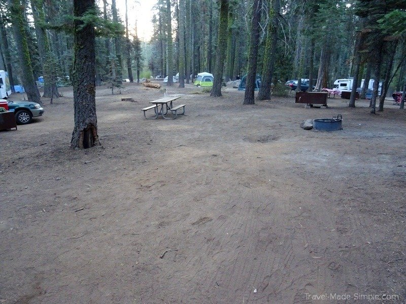 ultimate guide to planning a campervan road trip in the western US - Yosemite National Park campsite