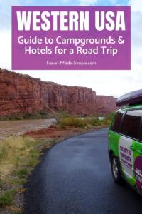 Are you planning a road trip in the western USA? Check out our guide to the best campgrounds and hotels based on our own experiences.