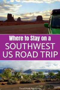 Planning a US road trip can be a lot of work. Here are our tips for where to stay on your American southwest road trip including campground tips and hotels. #camping #rv #campervan #roadtrip #usa #ca #ut #az #traveltips