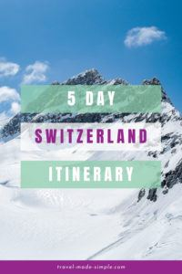 Have you been dreaming of traveling through the gorgeous Swiss Alps? Read our itinerary for 5 days in Switzerland to help plan your trip to the Bernese Oberland region. | Switzerland itinerary | Switzerland travel planning | Switzerland travel tips | Interlaken | Thun | Swiss Alps travel tips