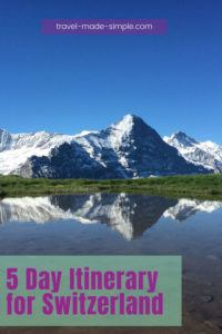 If you're planning a trip to Switzerland, you must see the Alps in the Bernese Oberland region. Check out our tips for a 5 day itinerary in Switzerland. | Switzerland itinerary | Switzerland travel planning | Switzerland travel tips | Interlaken | Thun | Swiss Alps travel tips