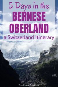 Are you planning a Switzerland itinerary? Check out this Bernese Oberland itinerary that will show you how to spend five days in the Bernese Oberland region of Switzerland. #switzerland #thun #interlaken #lauterbrunnen #swissalps #travelplanning #traveltips #itineraries