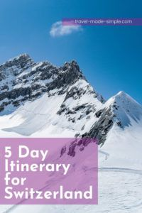 Who hasn't dreamed of traveling through the gorgeous Swiss Alps? Before you book your tickets, read our itinerary for 5 days in Switzerland to help plan your trip. | Switzerland itinerary | Switzerland travel planning | Switzerland travel tips | Interlaken | Thun | Swiss Alps travel tips