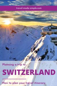Are you planning a trip to Switzerland? The Alps and lakes of the Bernese Oberland region are most likely what you're picturing. Check out our post about planning a trip to Switzerland for all the best tips. | Switzerland itinerary | Switzerland travel planning | Switzerland travel tips | Interlaken | Thun | Swiss Alps travel tips