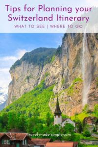 Are you dreaming of traveling to the Swiss Alps? Read our tips for planning an itinerary in Switzerland's Bernese Oberland region and you'll be on your way. | Switzerland itinerary | Switzerland travel planning | Switzerland travel tips | Interlaken | Thun | Swiss Alps travel tips