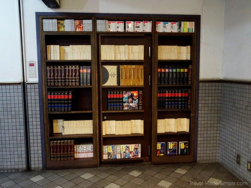 Tokyo food tour Meguro neighborhood - secret bookcase door