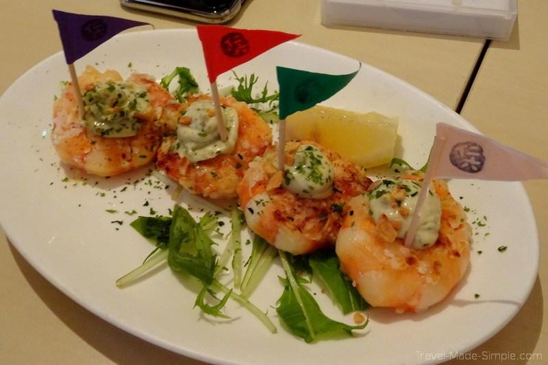 Tokyo food tour Meguro neighborhood - shrimp