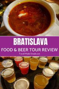 After spending several days in Bratislava, here's our look at food in Bratislava, where to eat in Bratislava, and a review of a food and beer tour we took. #bratislava #slovakia #foodtour #traveltips