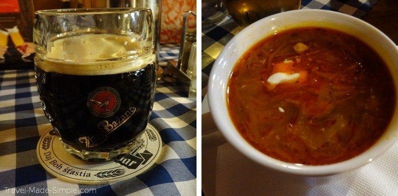 More Bratislava food - Dark Beer and Sauerkraut Soup
