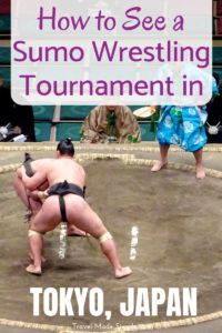 Watching sumo wrestling is a fascinating activity in Japan. Here's how to get tickets to a sumo tournament in Tokyo and what this unique experience is like. #japan #tokyo #sumo #traveltips #travelplanning
