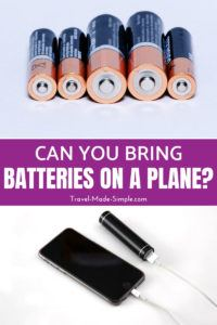 With so many different battery types, it's no wonder people ask, can you take batteries on planes? Here's what you need to know about flying with batteries, including the rules for carry on luggage and checked luggage. #packing #traveltips
