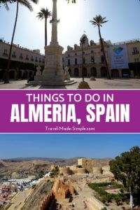 Love food? Then visit Almeria, Spain's 2019 gastronomy capital, and try their delicious tapas. Other things to do in Almeria include the imposing castle. #spain #almeria #traveltips