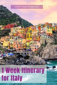 Italy has so many different gorgeous destinations! Here are the ones we think are not to be missed, plus ideas for one week itineraries in Italy.