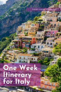 If you only have one week in Italy, you need our tips to plan your itinerary. We'll help you see as much as possible without rushing around too much.