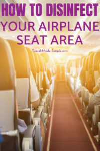 Can you take disinfectant wipes on a plane? Or makeup wipes, baby wipes, or wet wipes? Plus tips on how to disinfect your airplane seat from nasty germs. #traveltips #travelhealth