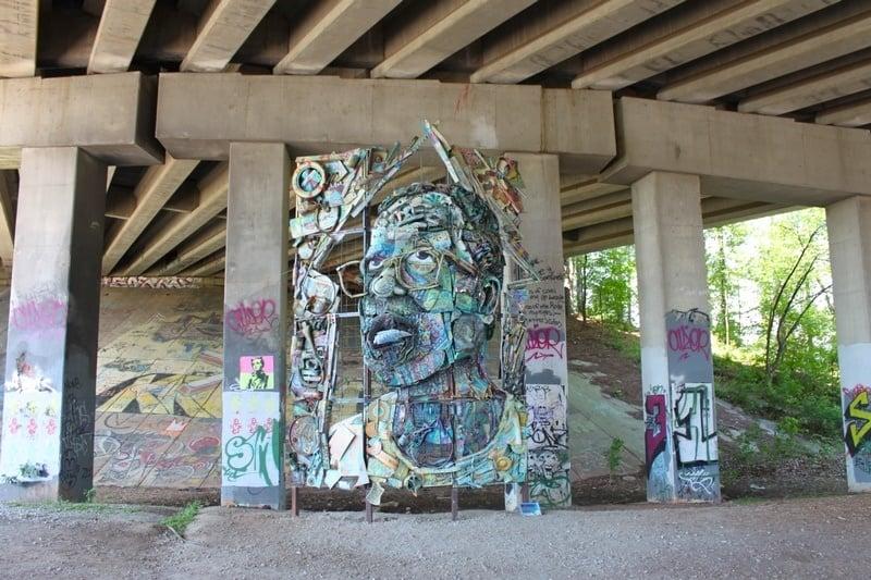 3 days in Atlanta Beltline Sculpture