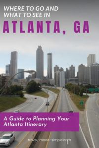 This Atlanta itinerary shows you the best things to do in Atlanta in each area of the city. Read our guide to get tips from a local for planning a trip to Atlanta. | Atlanta itinerary | Atlanta travel tips | what to do in Atlanta