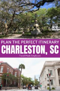 Plan a trip for 3 days in Charleston using these tips from an expert. This itinerary will show you a wide range of things to do in Charleston, SC. #charleston #sc #southcarolina #usa #traveltips #travelplanning