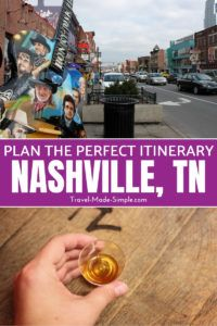 Plan a trip for 3 days in Nashville using these tips from an expert. This itinerary will show you a wide range of things to do in Nashville, TN, including day trips. #nashville #tennessee #tn #traveltips #travelplanning #usa
