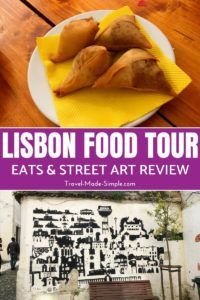 The Lisbon food tour we took with Eating Europe was a fun way to learn about the culture and cuisine of the city while eating tons of delicious food and exploring street art. #lisbon #portugal #foodtours #travelplanning #traveltips