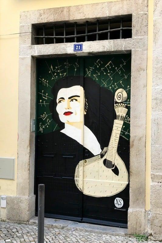 Lisbon food tour review - Fado street art