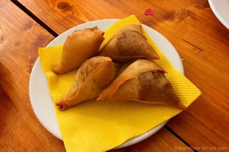 Lisbon, Portugal food tour review - Mozambique samosas