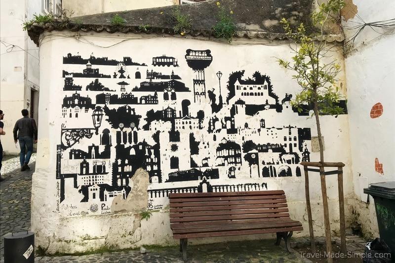 Lisbon food tour review - street art