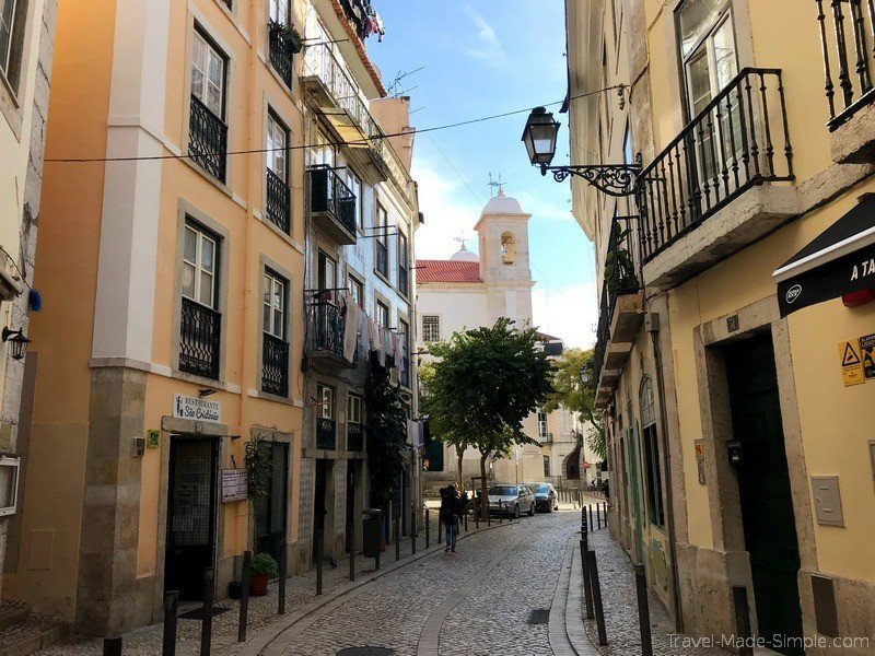 Lisbon food tour review - streets in Lisbon