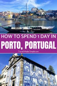 This itinerary for one day in Porto will help you plan a trip to this wonderful Portuguese city, famous for its Port wine. Read on for what to do in Porto. #portugal #porto #travelplanning #traveltips