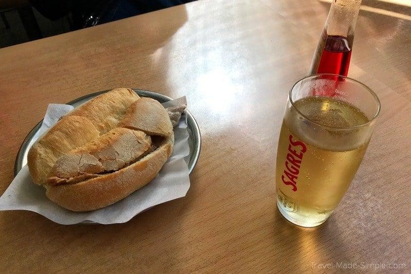 Lisbon food tour review Devour - bifana