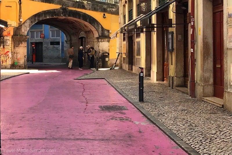Lisbon food tour review Devour - pink street