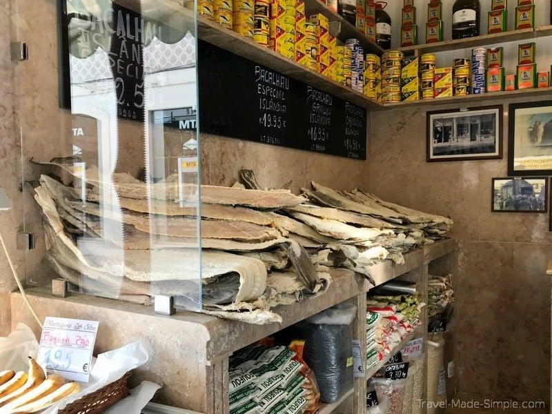 Lisbon food tour review Devour - salted cod