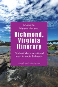 Are you planning a trip to Richmond, VA? Check out our guide to planning a Richmond itinerary so you don't miss the best attractions. This itinerary for 3 days in Richmond will help you have an enjoyable trip. | Richmond itinerary | Virginia travel tips | RVA travel tips | Richmond travel tips | what to do in Richmond VA