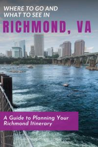 Richmond, VA is a city loaded with history, arts, outdoor activities, and lots of tasty food. Check out our itinerary for 3 days in Richmond to help you plan your trip. | Richmond itinerary | Virginia travel tips | RVA travel tips | Richmond travel tips | what to do in Richmond VA