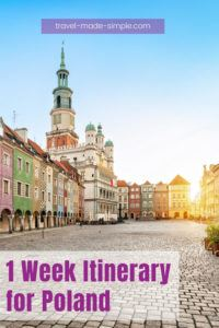 Here's how to plan a 1 week itinerary for Poland. This travel plan goes at a fast pace if you want to hit as many places as possible in this wonderful country.