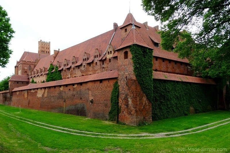 Malbork Castle near Gdansk Poland
