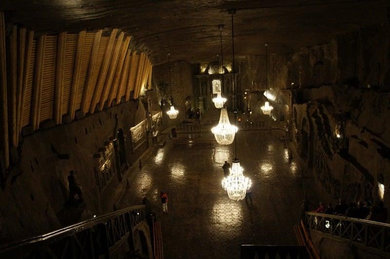 Inside of the Salt Mine near Krakow, Poland