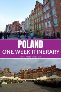 If you only have one week in Poland, this whirlwind Poland itinerary will hit the highlights. This is a fantastic country with lots to see! #poland #travelplanning #traveltips
