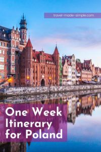 Check out our one week itinerary for Poland and start planning your trip today. This itinerary will help you include the best cities and experience different sides of the country.