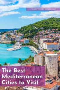 Looking for travel inspiration? The Mediterranean is a great region to travel to. Check out our guide to some of the best cities in the Mediterranean including cities in Italy, Spain, France, Croatia, Greece, Israel, and Tunisia. | where to go in the Mediterranean | best cities in the Mediterranean | Mediterranean cities to visit | travel tips | travel planning